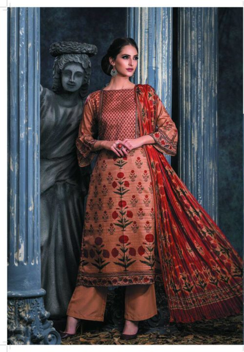 SRI Saanjh Semi Stitched Chandrakanta Silk Salwar Suit 295