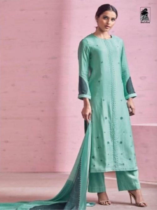 Sahiba Rose Pink Cotton Silk Heavy Digtal Print With Hand Work Suit 410
