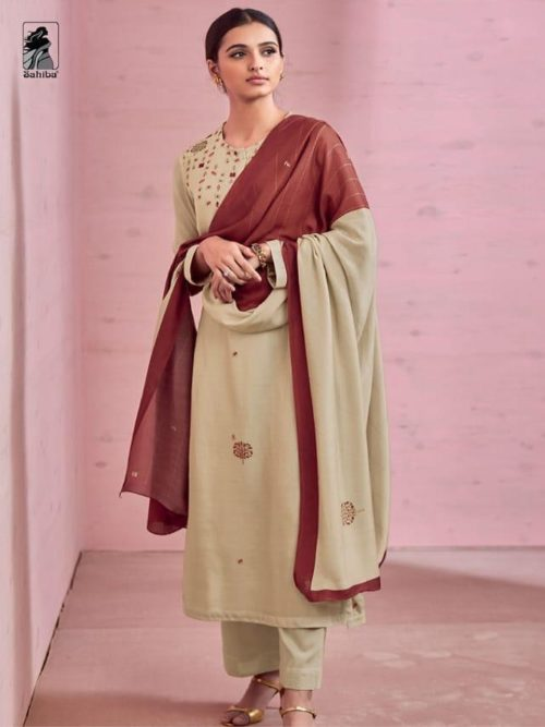 Sahiba Rose Pink Cotton Silk Heavy Digtal Print With Hand Work Suits 445