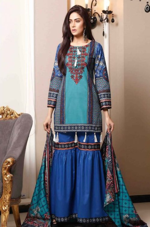 Sahil Collection Presents Lawn Embroidered vol 4 Original Pakistani Suits 03A