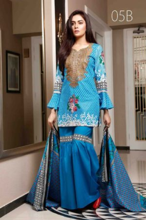 Sahil Collection Presents Lawn Embroidered vol 4 Original Pakistani Suits 05B
