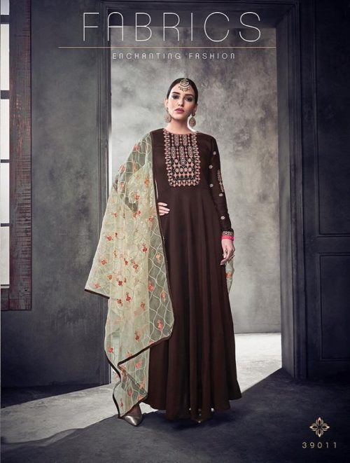 Sajawat Creation Bride Vol 2 Heavy pure Muslin Gown With Organza Dupatta 39011