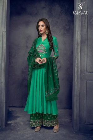 Sajawat Creation Sarthi Vol 4 Pure Heavy Maslin Designer Suits 1002