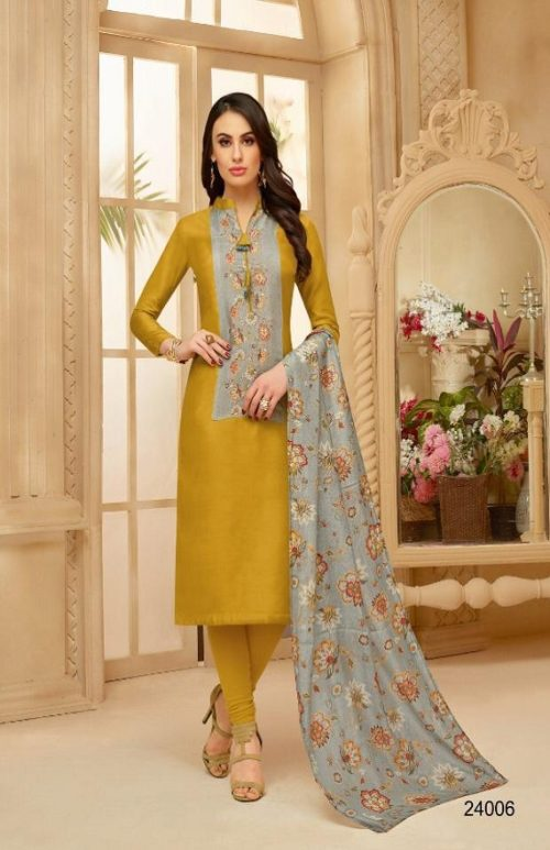 Samaira Fashion Presents Fida Vol 2 Silk with Embroidery Work Suits 24006