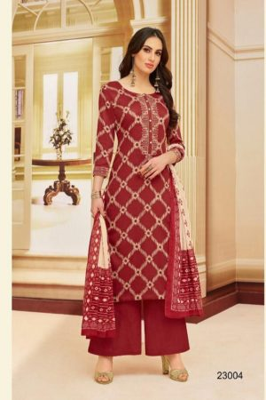 Samaira Selinaa Heavy Chanderi Print With Work Suits 23004