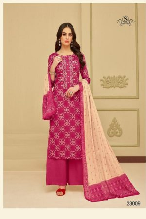 Samaira Selinaa Heavy Chanderi Print With Work Suits 23009