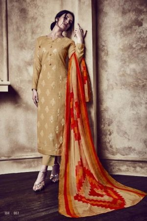 Sargam Prints Presents Florine Pure Zam Foil Print With Shisha khtli Works Suit 104-007