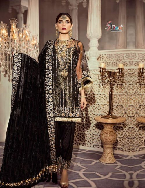 Shree Fabs Anaya vol 4 Fox Georgette & Net With Heavy Embroidery Suits 1924