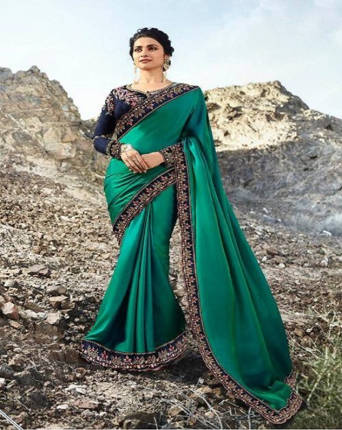 Vinay Fashion Presents Sheesha Hot Star Silk Saree With Heavy Blouse 20677