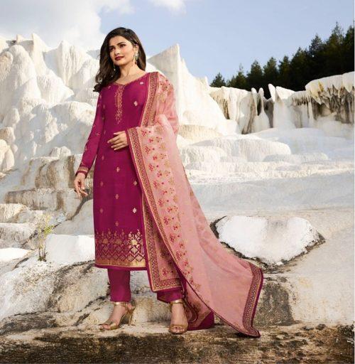 Vinay Kasheesh Prsents Ambition Jaquard with embroidery Salwar Suit 8882