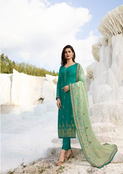 Vinay Kasheesh Prsents Ambition Jaquard with embroidery Salwar Suit 8888