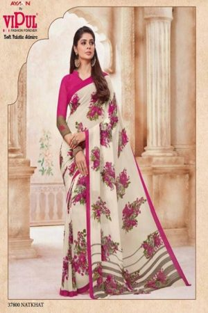 Vipul Soft Palette Admire Georgette Printed Designer Saree With Blouse 37800