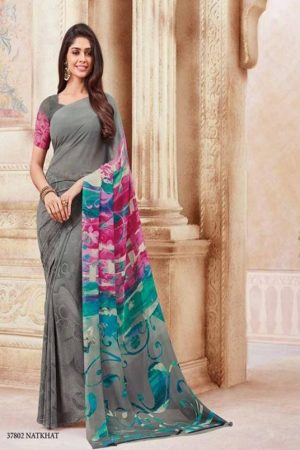 Vipul Soft Palette Admire Georgette Printed Designer Saree With Blouse 37802