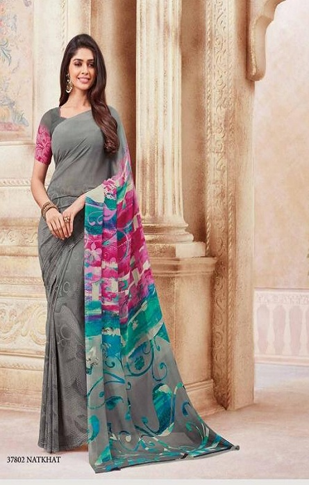 6fd8cd3c99 Vipul Soft Palette Admire Georgette Printed Designer Saree With Blouse 37802