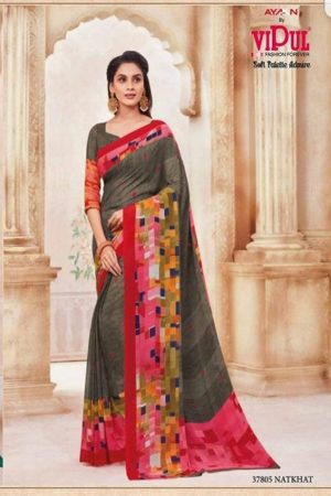 Vipul Soft Palette Admire Georgette Printed Designer Saree With Blouse 37805