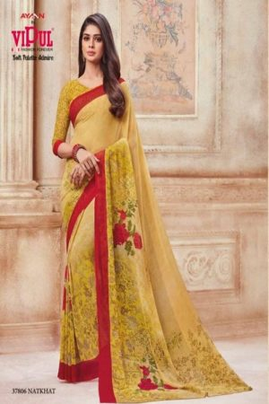 Vipul Soft Palette Admire Georgette Printed Designer Saree With Blouse 37806