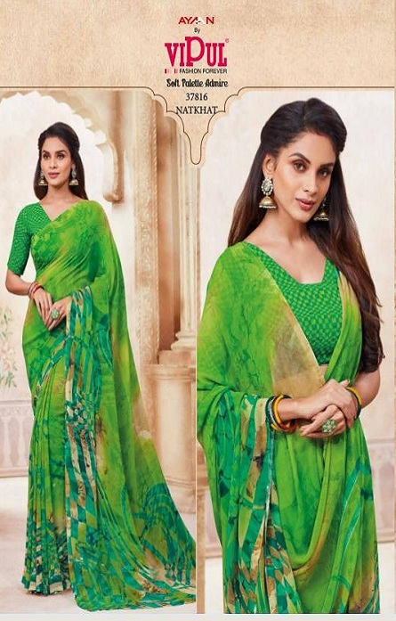 Vipul Soft Palette Admire Georgette Printed Designer Saree With Blouse 37807
