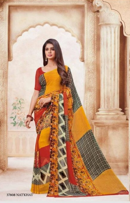 Vipul Soft Palette Admire Georgette Printed Designer Saree With Blouse 37808