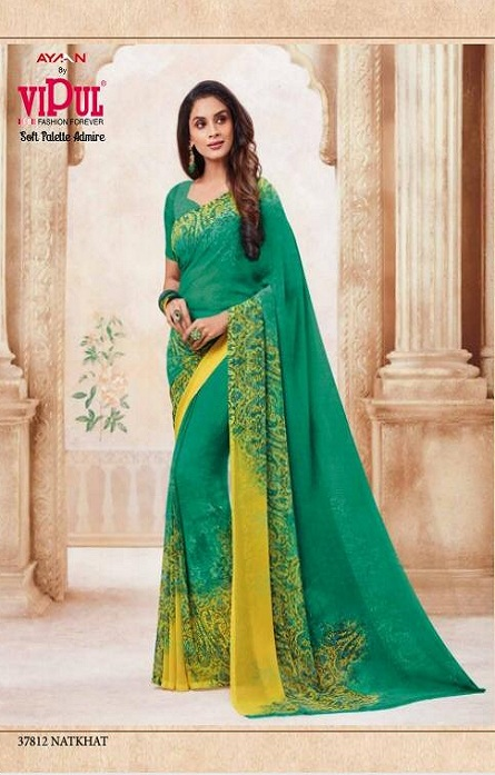 Vipul Soft Palette Admire Georgette Printed Designer Saree With Blouse 37812