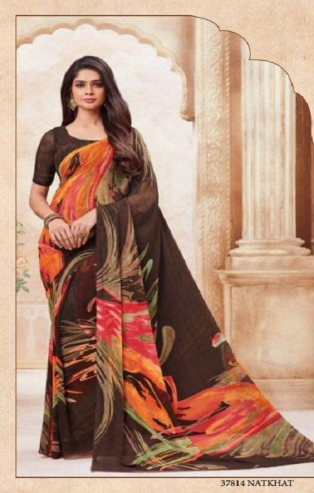 Vipul Soft Palette Admire Georgette Printed Designer Saree With Blouse 37814
