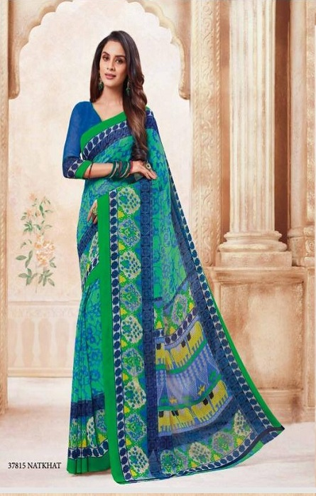 Vipul Soft Palette Admire Georgette Printed Designer Saree With Blouse 37815