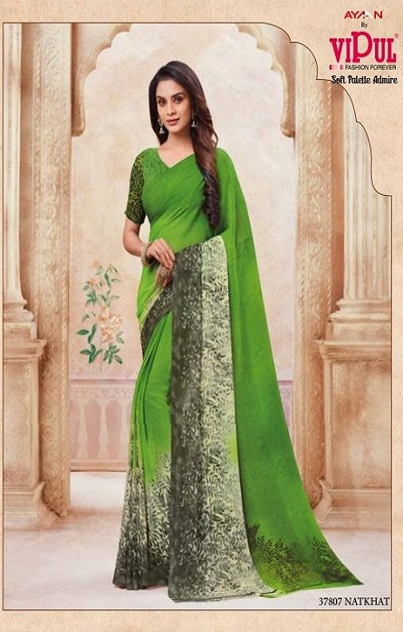 Vipul Soft Palette Admire Georgette Printed Designer Saree With Blouse 37816