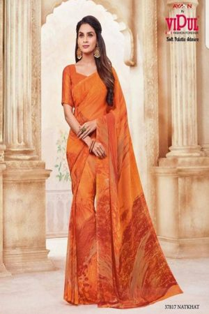 Vipul Soft Palette Admire Georgette Printed Designer Saree With Blouse 37817