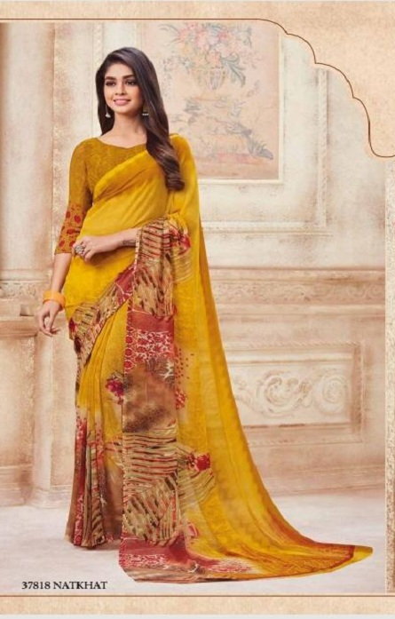 Vipul Soft Palette Admire Georgette Printed Designer Saree With Blouse 37818