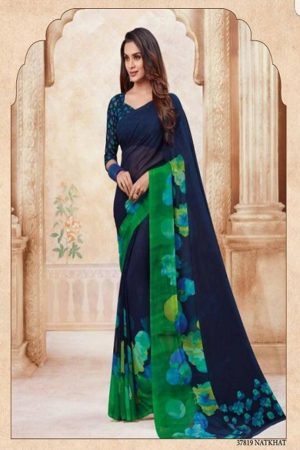 Vipul Soft Palette Admire Georgette Printed Designer Saree With Blouse 37819