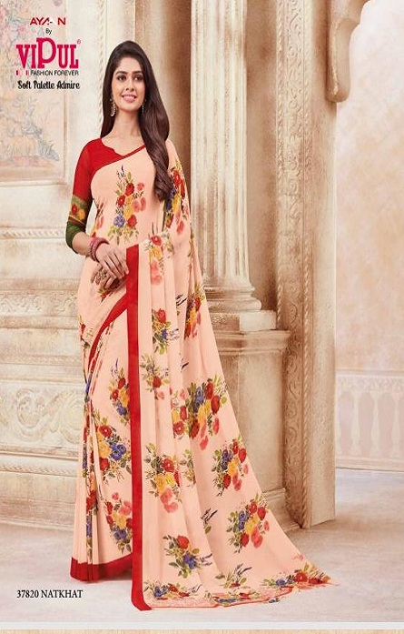 Vipul Soft Palette Admire Georgette Printed Designer Saree With Blouse 37820