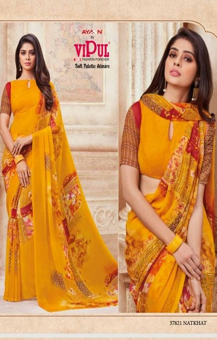 Vipul Soft Palette Admire Georgette Printed Designer Saree With Blouse 37821