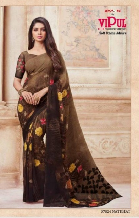 Vipul Soft Palette Admire Georgette Printed Designer Saree With Blouse 37824