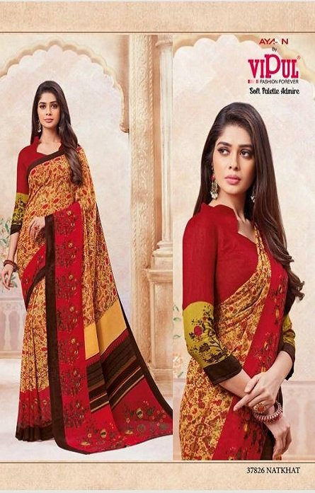 Vipul Soft Palette Admire Georgette Printed Designer Saree With Blouse 37826