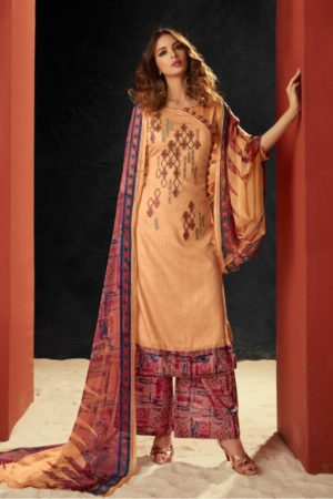 AT Presents Pichhwai vol 5 Cotton Satin Print With Embroidery Work Suit 501