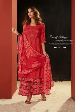 AT Presents Pichhwai vol 5 Cotton Satin Print With Embroidery Work Suits 502