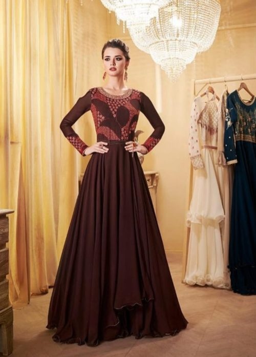 Aashirwad Creation Londan Dreams Real Georgette Gown Collection 8106