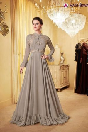 Aashirwad Creation Londan Dreams Real Georgette Gowns Collection 8112