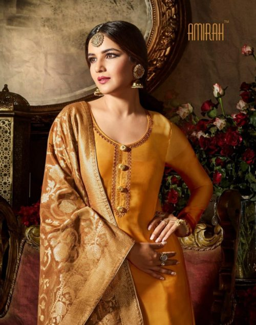 Amirah Vol 20 Satin Georgette With Digital Print with Embroidery Suit 11042