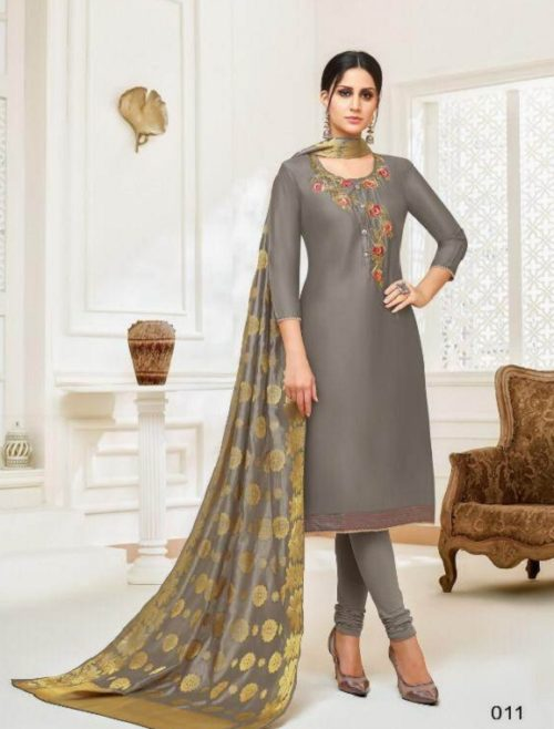 Angroop Plus Presents Inara Masline Silk With Embroidery Suit 011