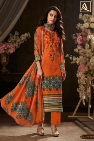 Buy Alok Presents Sargun Pure Zam Cotton Digital Style Designer Print with Exclusive Embroidery Suits 273 006