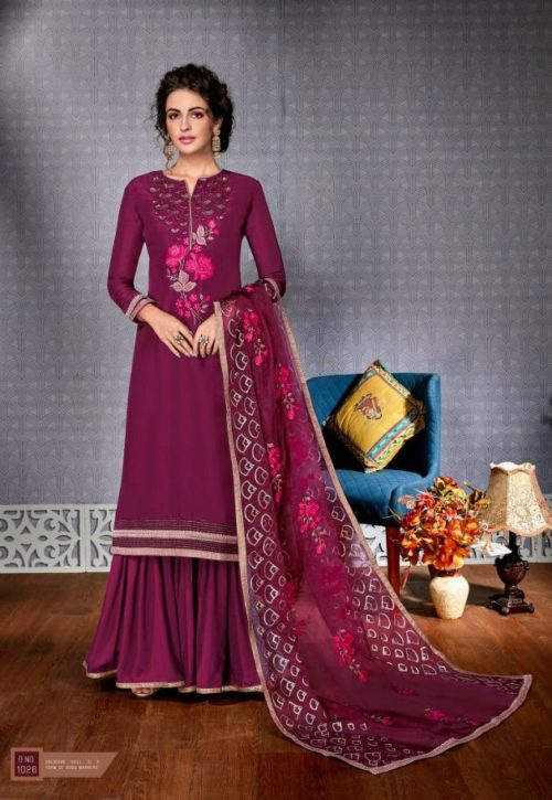 Buy Eba Hurma Vol 5 Fox Georgette with Work salwar suit 1026