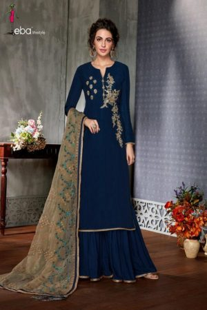 Buy Eba Hurma Vol 5 Fox Georgette with Work salwar suit 1028