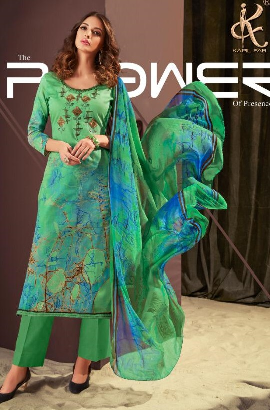 Buy Kapil Fabs Present Aahana Cotton Satin Print With Self Embroidery Suits 53002