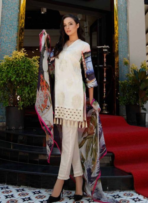 Charizma Swiss Miss Collection Embroidered Swiss Voile Salwar Suits SM30