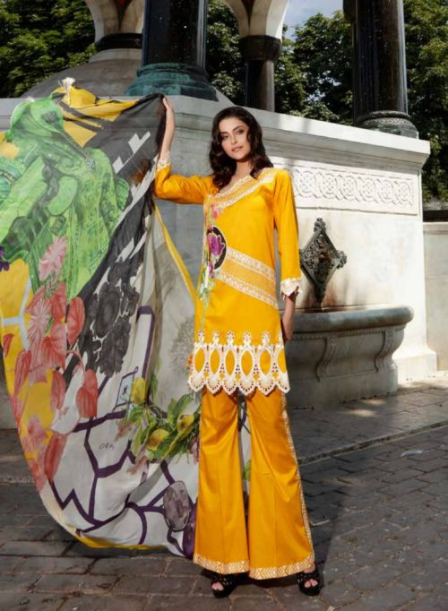 Charizma Swiss Miss Collection Embroidered Swiss Voile Salwar Suits SM36