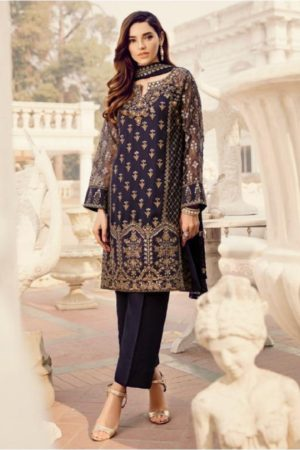 Deepsy Maria B-3 Georgette With Heavy Embroidered Suit 600-402
