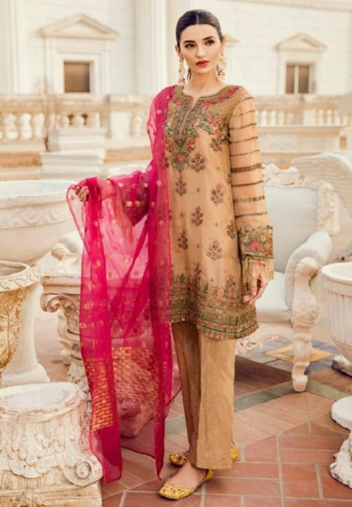 Deepsy Maria B-3 Georgette With Heavy Embroidered Suits 600-405