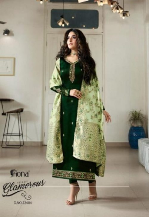 Fiona Kritika Jaquard Dupatta Satin Georgette With Embroidery Suit 22404