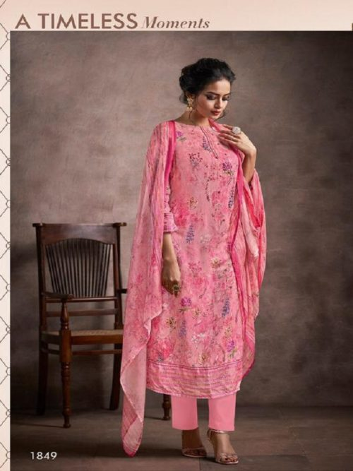 Haya Presents Ivana -2 Pure silk cotton Digital Print Handwork With pure Modal Digital Print with Work Suit 1849