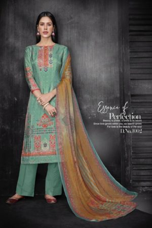 Kesar Karachi Krisha Pure Upada Silk Digital Print Suits 1002